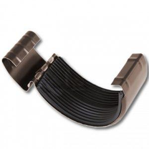 Замок желоба Престиж 8017 коричневый шоколад D150/100