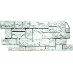 Фасадная панель FineBer Камень Дикий (Жемчужный) 1117x463