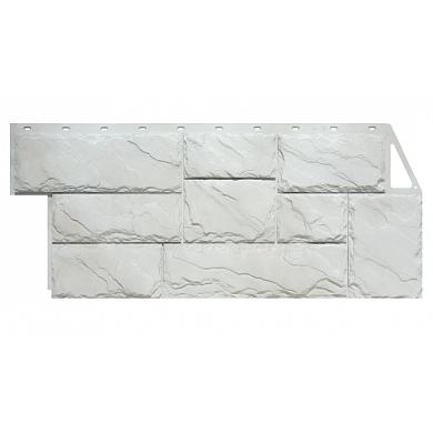 Фасадная панель FineBer Камень Крупный (Мелованный белый) 1080x452
