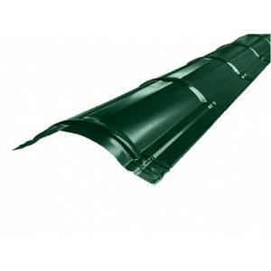 Конек полукруглый Gr.Line Velur п/э матовый 6005 Зелёный 2м
