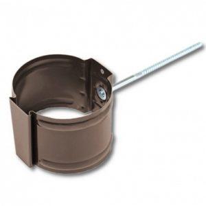 Крепление трубы (на кирпич) Престиж 8017 коричневый шоколад D100