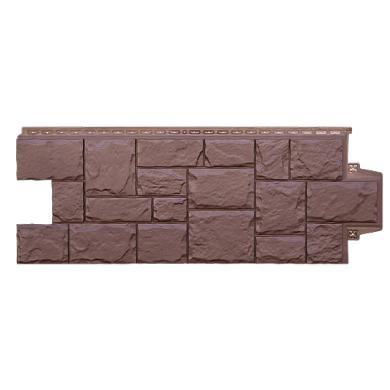 Фасадная панель Grand Line крупный камень Коричневый