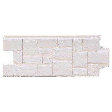 Фасадная панель Grand Line крупный камень Молочный