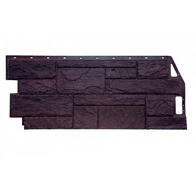 Цокольный сайдинг FineBer Камень Природный (Коричневый) 1085x447