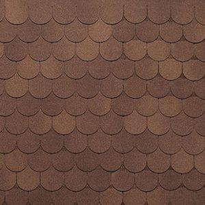 АПП Модифицированная Гибкая черепица Tegola Антик Коричневый с отливом (1кв.м)