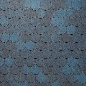 АПП Модифицированная Гибкая черепица Тегола Антик Синий с отливом (1кв.м)