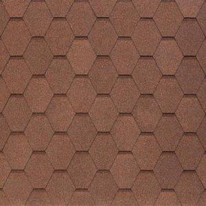 АПП Модифицированная Гибкая черепица Тегола Вест Светло-коричневый (1кв.м)