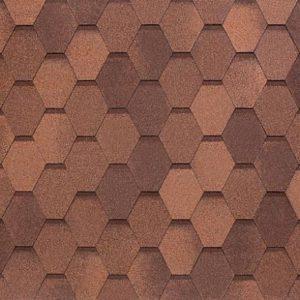 АПП Модифицированная Мягкая кровля Tegola Вест Красно-коричневый (1кв.м)