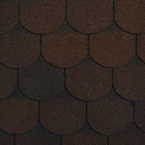 Гибкая черепица Ruflex Ornami Темный шоколад (1 кв.м.)