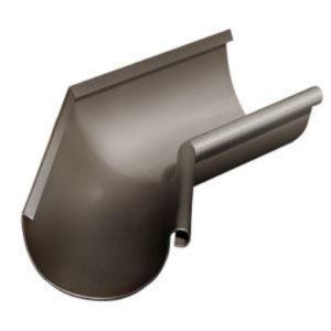 Водосток Grand Line 125х90-Угол желоба внутренний 135 гр.RR32 темно-коричневый