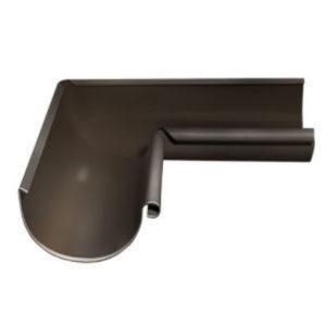Водосток Grand Line 125х90-Угол желоба внутренний 90 гр. RR32 темно-коричневый