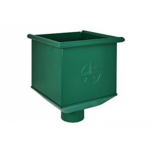 Воронка водосборная (ведро) Аквасистем RAL 6005 (Зеленый) 90/125