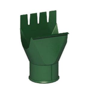 Воронка выпускная (приемник воды) Престиж 6005 зелёный мох D125/100