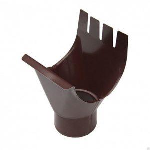 Воронка выпускная (приемник воды) Престиж 8017 коричневый шоколад D125/100