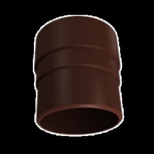 Муфта трубы соединительная ПВХ Grand Line Стандарт RAL 8017 Шоколад