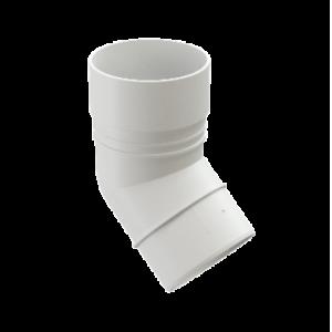 Водосток Docke Standard. Колено ПВХ 80 мм * 45 гр.Белый