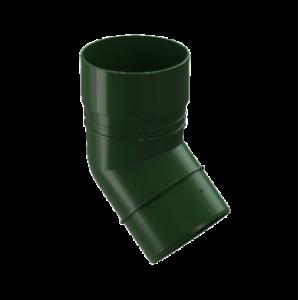 Водосток Docke Standard. Колено ПВХ 80 мм * 45 гр.Зеленый