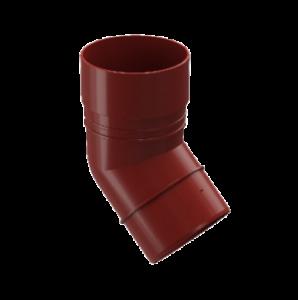 Водосток Docke Standard. Колено ПВХ 80 мм * 45 гр.Красный