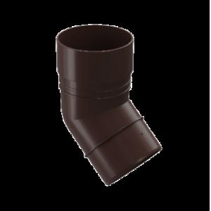 Водосток Docke Standard. Колено ПВХ 80 мм * 45 гр.Темно-коричневый