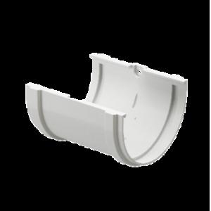 Водосток Docke Standard.Соединитель желоба 120 мм ПВХ Белый