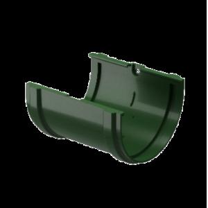 Водосток Docke Standard.Соединитель желоба 120 мм ПВХ Зеленый