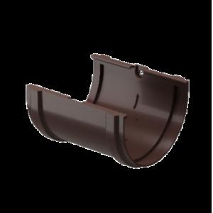Водосток Docke Standard.Соединитель желоба 120 мм ПВХ Темно-коричневый