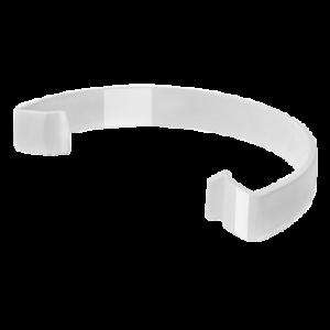 Водосток FineBer Скоба фиксирующая Белый