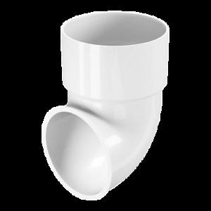 Водосток FineBer Сливное колено D80 Белый
