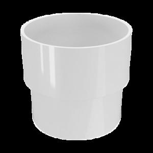 Водосток FineBer Соединитель труб D80 Белый (муфта)
