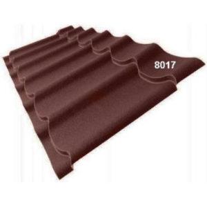 Металлочерепица Супермонтеррей Stynergy Стальной бархат 8017 коричневый 0