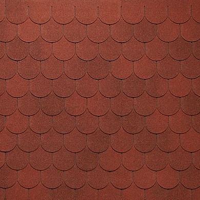 Мягкая кровля Тегола Антик АПП Модифицированная Красный с отливом (1кв.м)
