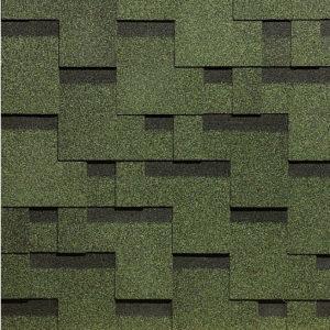 Окисленная Мягкая кровля Docke Simple Тетрис Зеленый (1кв.м)