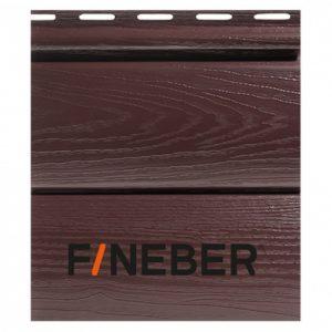 Сайдинг FineBer BlockHouse Extra Acrylic Тёмный дуб