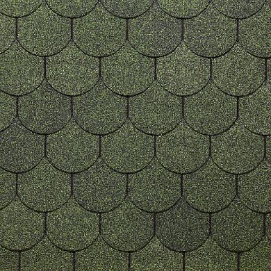 Окисленная Гибкая черепица Docke Simple Кольчуга Зеленый  (1кв.м)