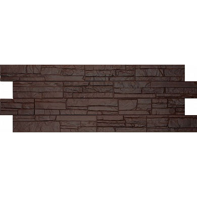 Фасадная панель Docke-r Stein Тёмный орех Песчаник