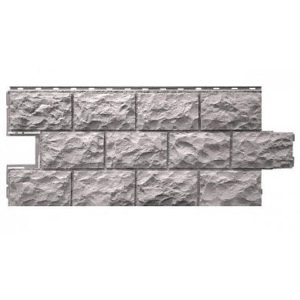 Фасадная панель FineBer Дачный Доломит Светло-серый 1120x473