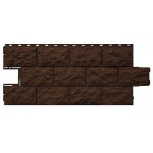 Фасадная панель FineBer Дачный Доломит Темно-коричневый 1120x473