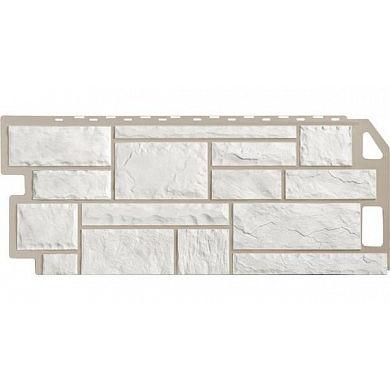 Фасадная панель FineBer Камень (Мелованный белый) 1137x470