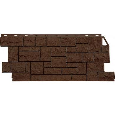 Фасадная панель FineBer Камень Дикий ( Коричневый ) 1117x463