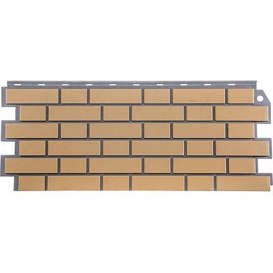 Фасадная панель FineBer Кирпич облицовочный (Желтый) 1130x463