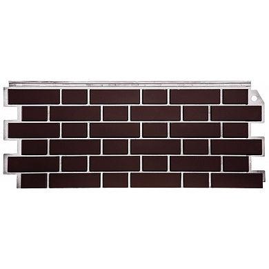 Фасадная панель FineBer Кирпич облицовочный Britt коричневый 1130x463