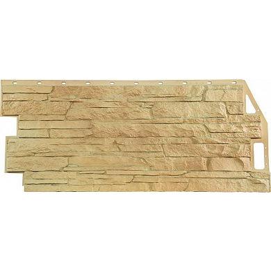 Фасадная панель FineBer Скала (Бежевый) 1094x459