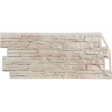 Фасадная панель FineBer Скала (Мелованный белый) 1094x459