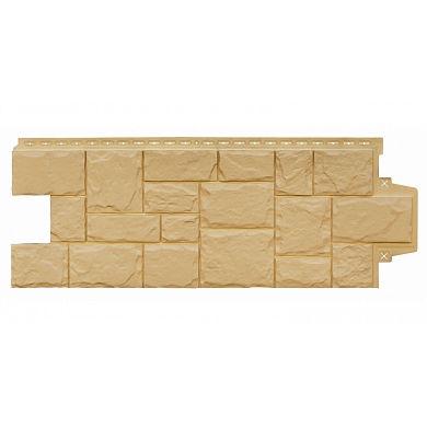 Фасадная панель Grand Line крупный камень Песочный