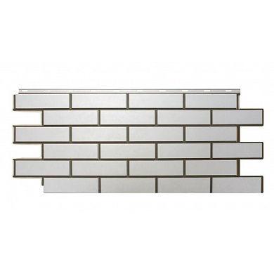 """Фасадная панель Nordside Гладкий кирпич """"Белый"""" 1"""