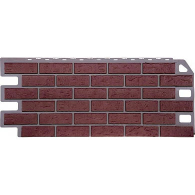 Цокольный сайдинг FineBer Кирпич ( Красный ) 1137x470