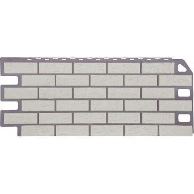 Цокольный сайдинг FineBer Кирпич (Мелованный белый) 1137x470