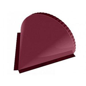 Заглушка конька полукруглого конусная Velur 3009 красный
