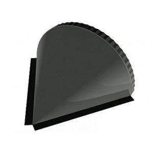 Заглушка конька полукруглого конусная Velur 7024 серый