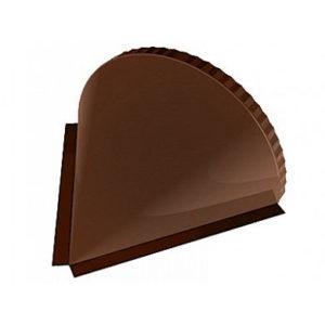 Заглушка конька полукруглого конусная Velur 8017 коричневый